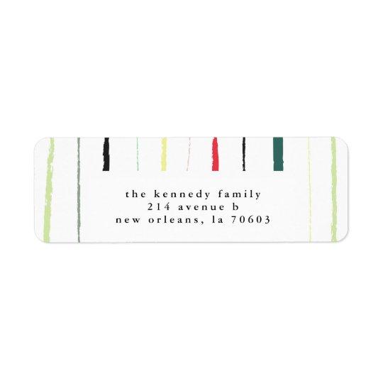 Etiquetas pintadas del remite de las rayas etiqueta de remite