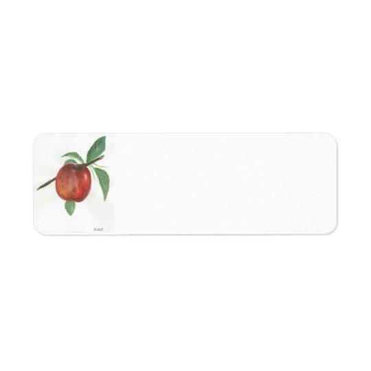 Etiquetas por encargo del remite de Apple Etiquetas De Remite