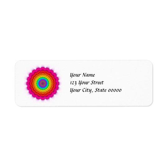 Etiquetas prismáticas del remite del arco iris del