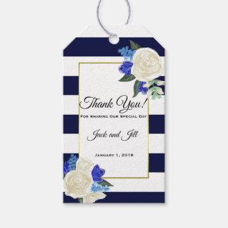 Etiquetas profundas del regalo del favor del boda
