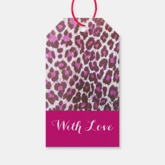 Etiquetas púrpuras rosadas del regalo del etiquetas para regalos