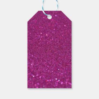 Etiquetas purpurinoso púrpuras del regalo