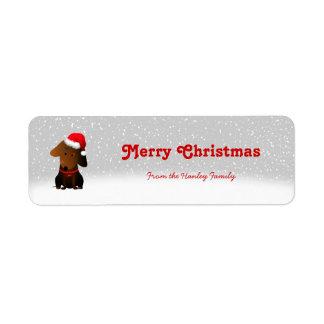 Etiquetas rocosas del regalo del navidad etiqueta de remitente