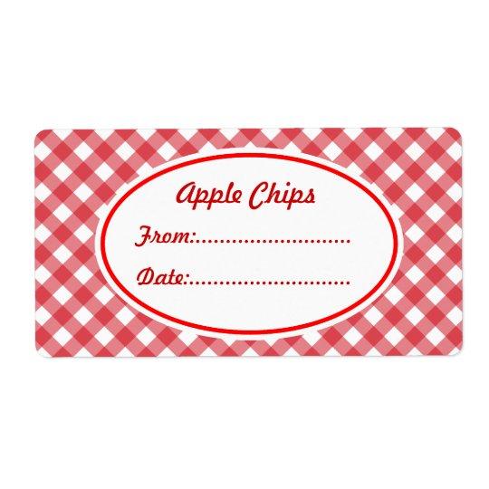 Etiquetas rojas de encargo de la etiqueta del etiquetas de envío