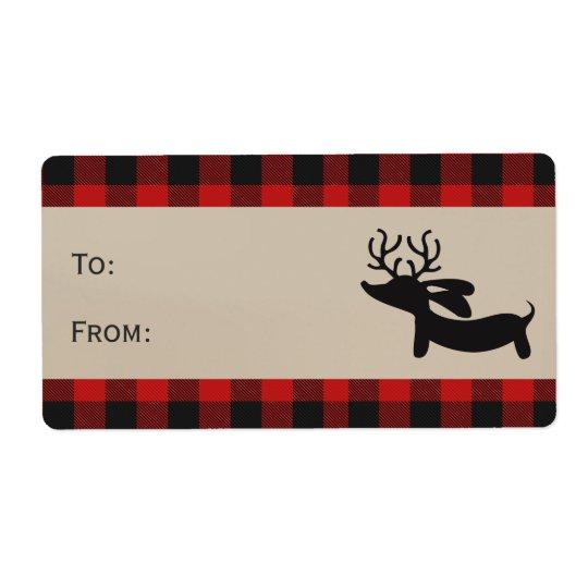 Etiquetas rojas de la etiqueta del regalo del