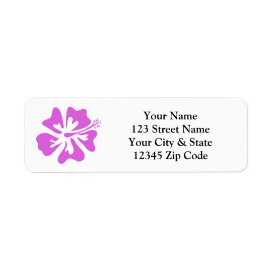 Etiquetas rosadas del remite de la flor del etiqueta de remite
