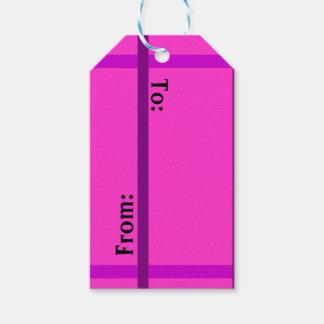 Etiquetas rosadas lindas del regalo etiquetas para regalos