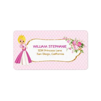 Etiquetas rubias bonitas de la princesa dirección