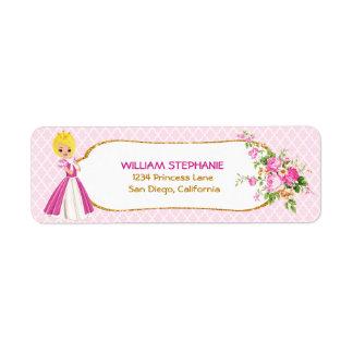 Etiquetas rubias bonitas de la princesa remite
