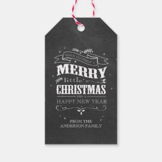 Etiquetas rústicas del navidad de la pizarra etiquetas para regalos