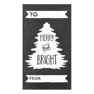 Etiquetas rústicas del regalo del árbol de navidad tarjetas de visita
