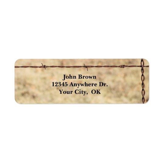 Etiquetas rústicas del remite del alambre de púas etiqueta de remitente