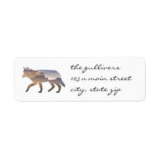 Etiquetas rústicas del remite del lobo