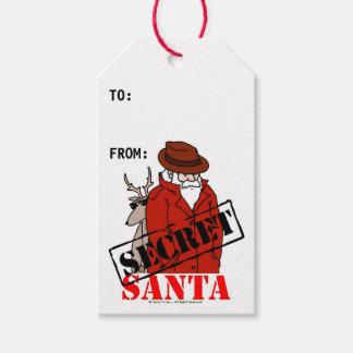Etiquetas secretas del regalo de Santa