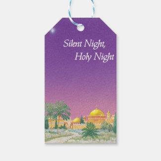 Etiquetas silenciosas del regalo de la noche etiquetas para regalos
