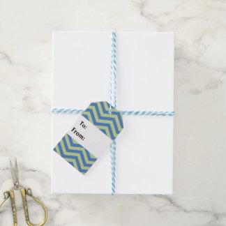 Etiquetas suaves del regalo del zigzag etiquetas para regalos