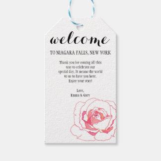 Etiquetas subiós boda del regalo de la flor de la