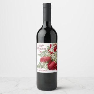 Etiquetas subiós el día de San Valentín del vino