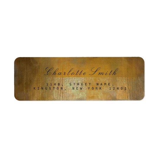 Etiquetas sucias del remite del oro viejo de etiqueta de remitente