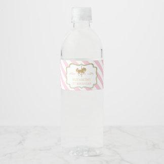 Etiquetas temáticas de la botella de agua del