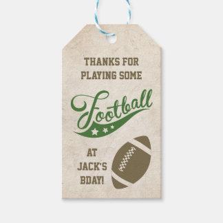 Etiquetas temáticas del favor del fútbol etiquetas para regalos