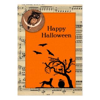 Etiquetas temáticas del regalo de Halloween del Plantilla De Tarjeta De Visita