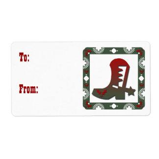 Etiquetas temáticas occidentales del regalo del etiqueta de envío