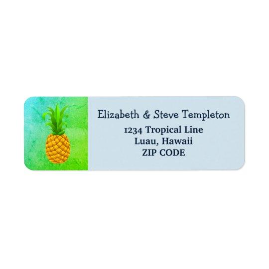 Etiquetas tropicales del remite de la piña de Luau Etiqueta De Remite