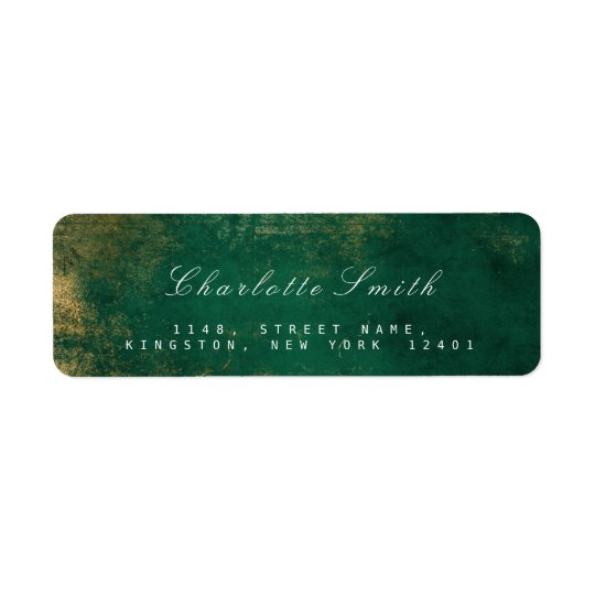Etiquetas tropicales del remite del oro verde etiquetas de remite