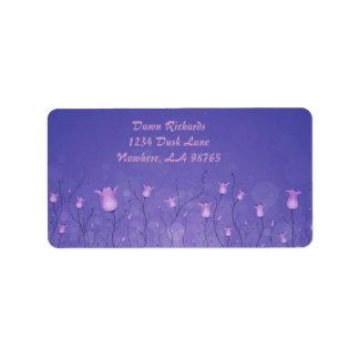Etiquetas violetas del remite de Belces Etiquetas De Dirección