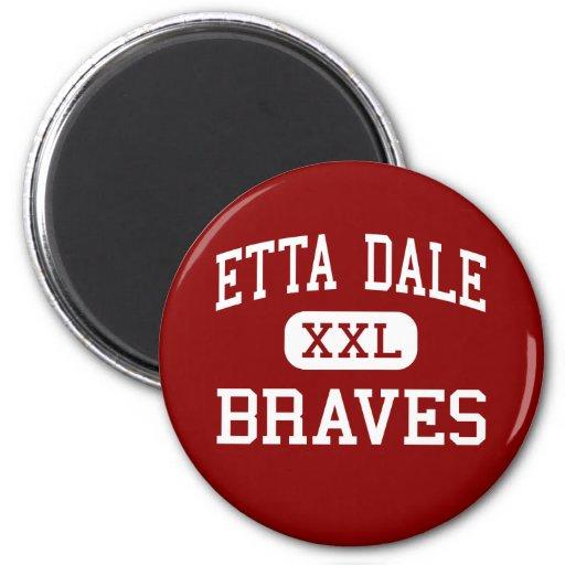 Etta Dale - Braves - joven - EL Reno Oklahoma Imán De Nevera
