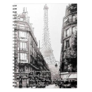 Eu amo París del que de Por - porqué lo hace el am Cuadernos