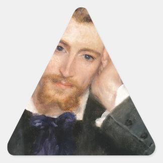 Eugène Murer - aceite en lona Pegatina Triangular