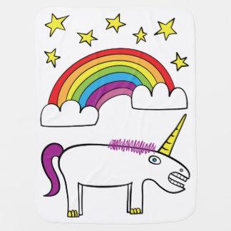 Eunice el unicornio - manta del bebé mantas de bebé