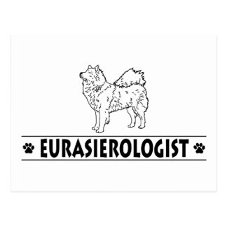 Eurasier chistoso postal