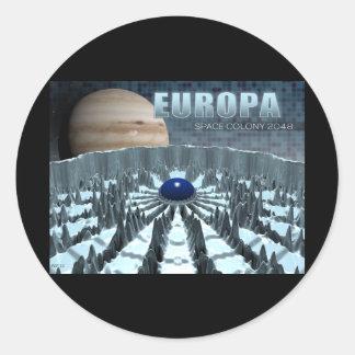 Europa 2048 pegatina redonda