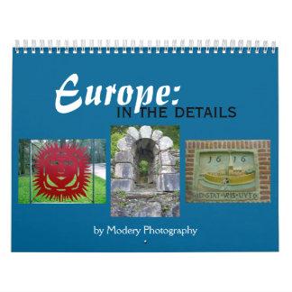 Europa: En los detalles 2017 Calendarios