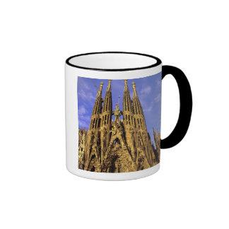 Europa, España, Barcelona, Sagrada Familia Taza A Dos Colores