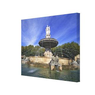 Europa, Francia, Aix-en-Provence. Fontaine de Impresión En Lona Estirada