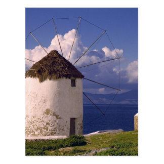 Europa, Grecia, Mykonos. Un blanco llamativo Postal