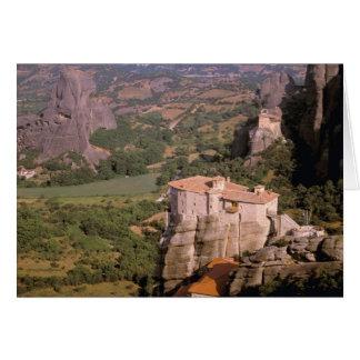 Europa, Grecia, Thessaly, Meteora, Kastraki. Tarjeta De Felicitación