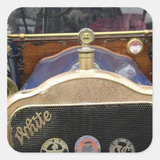 Europa Irlanda Dublín Auto del vintage blanco Pegatina Cuadradas Personalizadas