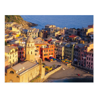 Europa, Italia, Cinque Terre. Pueblo de Vernazza Postal
