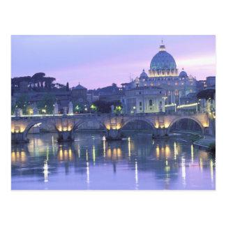 Europa, Italia, Roma, el Vatican. San Pedro y Tarjeta Postal