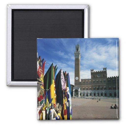 Europa, Italia, Toscana, Siena. Del de la plaza Imán Para Frigorífico