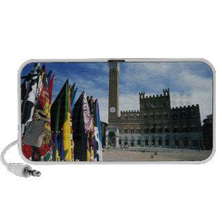 Europa, Italia, Toscana, Siena. Del de la plaza iPod Altavoces