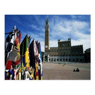 Europa, Italia, Toscana, Siena. Del de la plaza Postal
