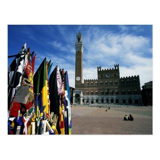 Europa, Italia, Toscana, Siena. Del de la plaza Tarjetas Postales