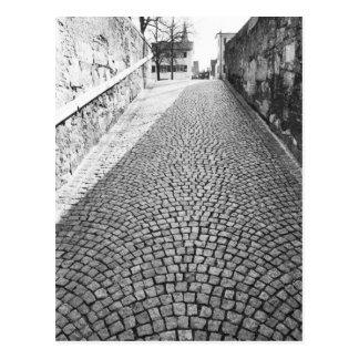 Europa, Suiza, Zurich. Calle Cobbled, Postal