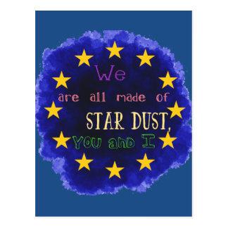 Europa - un mapa de estrella postal